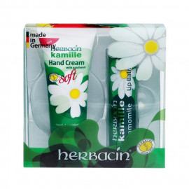 image of Herbacin 德國小甘菊 美唇護手組合(護手霜+護唇膏) #.清爽   Herbacin Kamille Hand Cream + Lip Balm