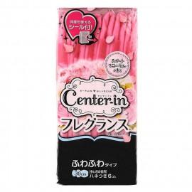 image of 日本 CENTER IN 香氛蝶翼衛生棉(隨手包) 30cm 6片/包   Japan Unicharm Sofy Center-In Slim Sanitary Pad Overnight Wing 30cm 6 Pcs