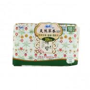 image of 蘇菲天然草本衛生棉29cmX18片    Sofy Body Fit Guierang Mugwort Korea Herbal Sanitary Napkins Panty Liner  29cmX18 Pcs