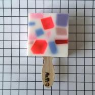 image of 韓國 Fluffi soap 雪糕設計手工皂 85g Cherry Drop 預防皮膚老化   Korea Fluffi soap 85g # Cherry Drop