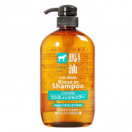 image of 日本熊野 馬油無矽靈二合一洗+潤髮精 600ml    Japan Horse Oil Non Silicon Rinse In Shampoo 600ml