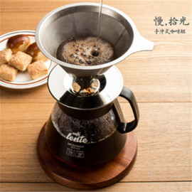 image of 慢拾光/手沖式不鏽鋼咖啡組【寶雅】咖啡 手沖 Slow pick-up / hand-punched stainless steel coffee group [PoYa] coffee hand punch