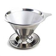 image of 慢拾光/手沖式不鏽鋼咖啡濾杯 咖啡 手沖 Slow pick-up / hand-punched stainless steel coffee filter cup