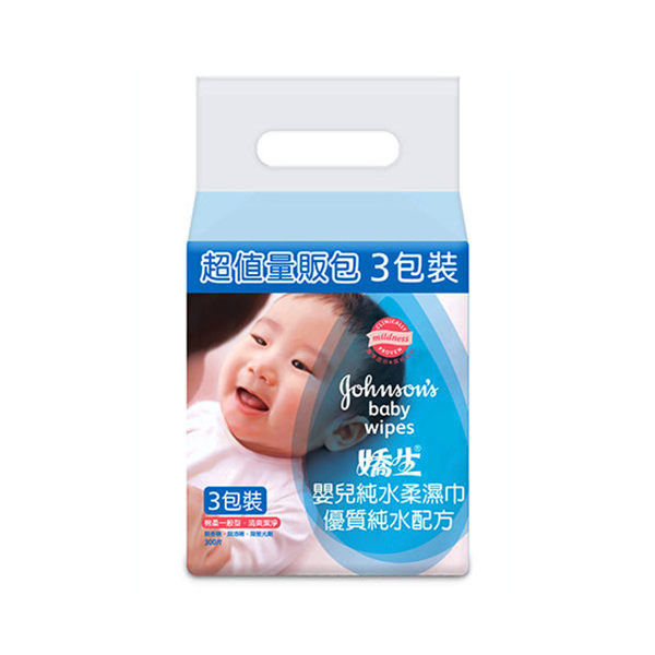 image of 嬌生嬰兒純水柔溼巾一般型100片 3入組  baby pure water soft wipes general type 100 (3 into the group)