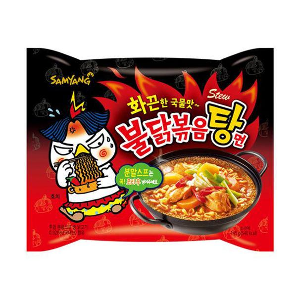 image of 三養火辣雞肉麵湯麵145g 韓國 三養 辣雞  Samyang Hot Chicken Noodle Soup 145g Korea Samyang Spicy Chicken