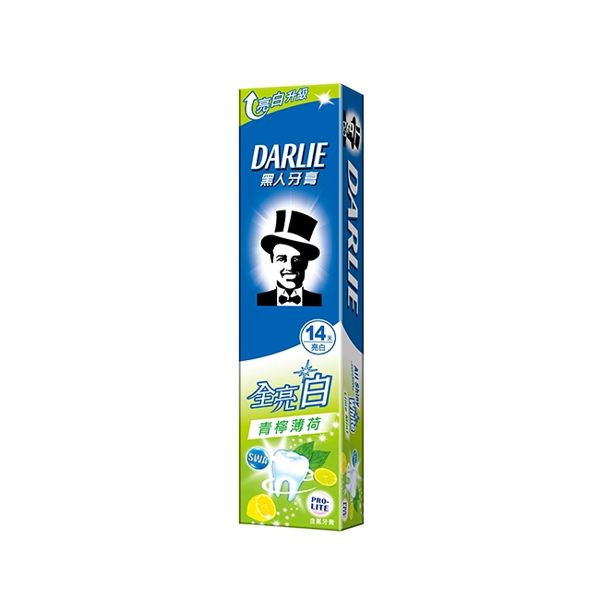 image of 黑人全亮白牙膏140g #青檸薄荷款  Black Full Bright White Toothpaste 140g #lime mint