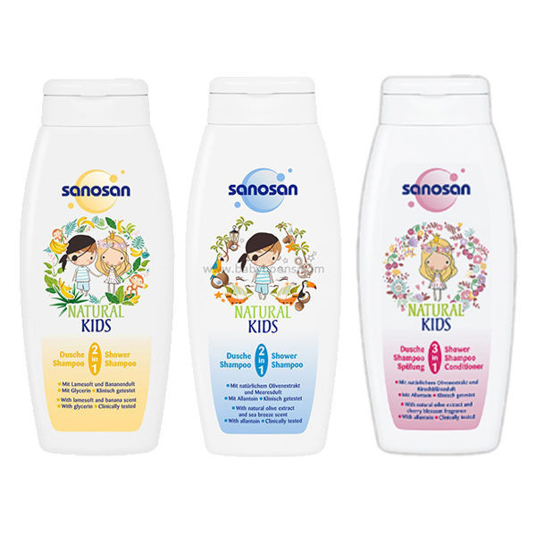 image of 德國珊諾香洗髮沐浴露250ml(3款任選)  GERMAN Shampoo & Shower Gel 250ml (3 optional)