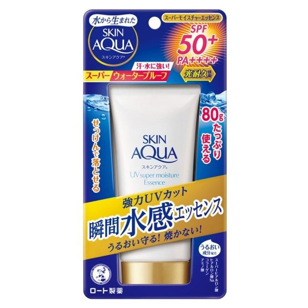 image of 曼秀雷敦水潤肌超保濕水感防曬精華 80g  AQUA Moisturizing Super Moisturizing Sunscreen Essence 80g
