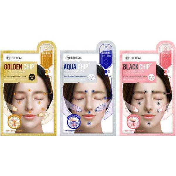 image of MEDIHEAL能量穴位石黑面膜25ml(共三款)  MEDIHEAL energy acupoint stone mask 25ml (three models)