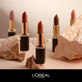 image of 巴黎萊雅純色訂製唇膏柔霧款-惹火玫瑰(7色任選) LOREAL (Paris Laiya Pure Color Customized Lipstick Soft Mist - Hot Rose (7 colors optional) LOREAL)