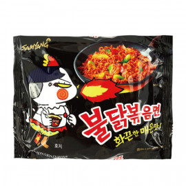 image of 三養火辣雞肉鐵板炒麵140g  ( Sanyang Hot Chicken Iron Plate Fried Noodles 140g )