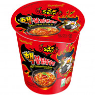 image of 三養火辣雞肉風味二倍辣拉麵(杯裝)70g   (  chicken flavor double spicy ramen (cup) 70g )