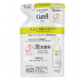 image of 【Curel珂潤】油亮問題肌潔顏泡沫-補充包 130ml