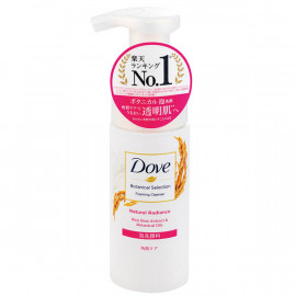 image of 【Dove多芬】日本植萃保濕透亮米糠泡洗顏145ml Natural Radiance Foaming Cleanser