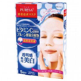 image of 【Puresa】維他命C+黑棗酵素淨白面膜5入