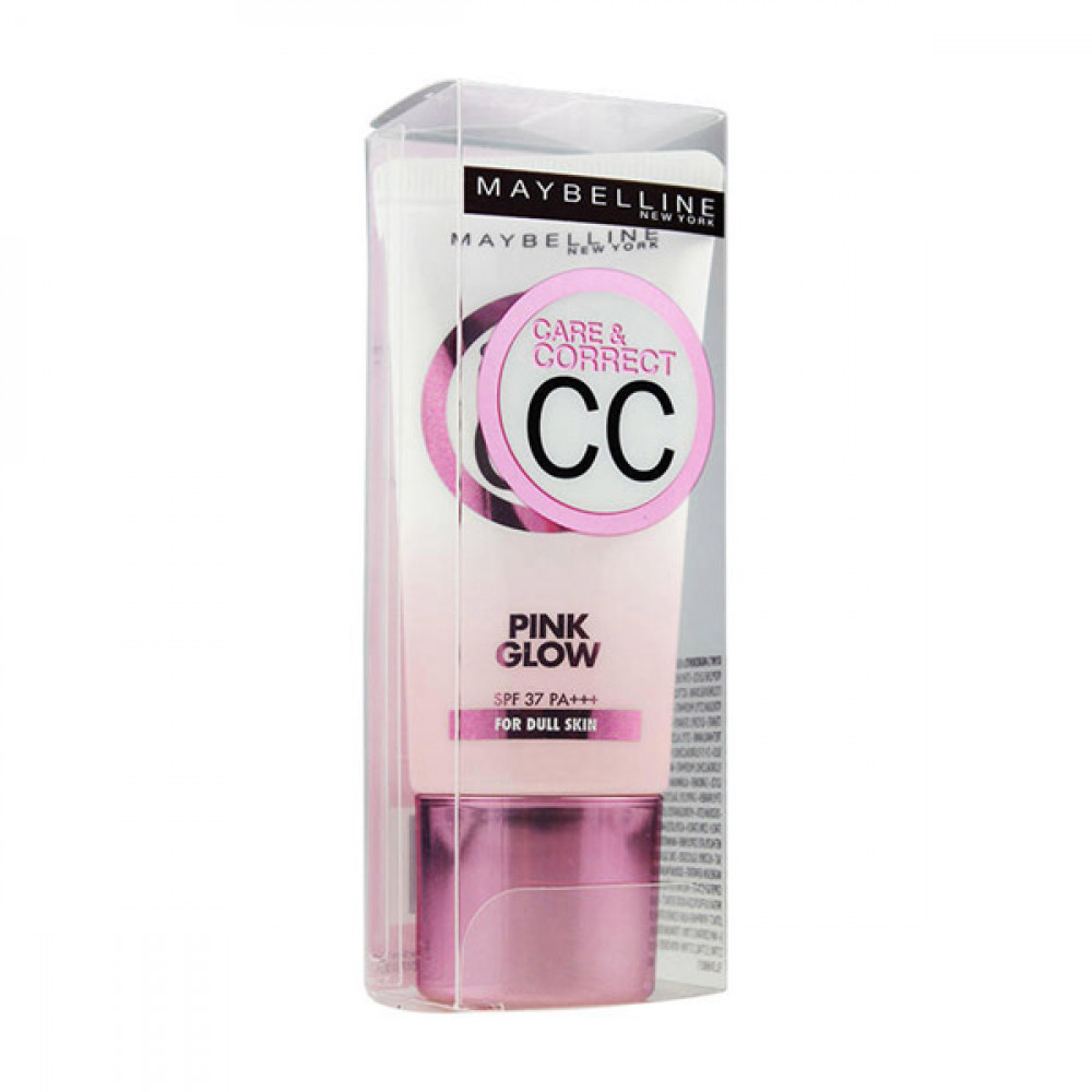 【MAYBELLINE媚比琳】寶石光粉紅CC霜(SPF37)PA(30ml) Care & Correct 1PCS
