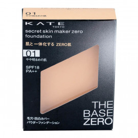 image of 【KATE凱婷】零瑕肌蜜粉餅-01柔膚色 9.5g Secret Skin Maker Zero Foundation 1PCS