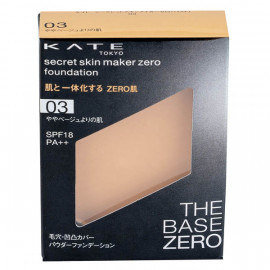 image of 【KATE凱婷】零瑕肌蜜粉餅-03淺膚色 9.5g Secret Skin Maker Zero Foundation 1PCS