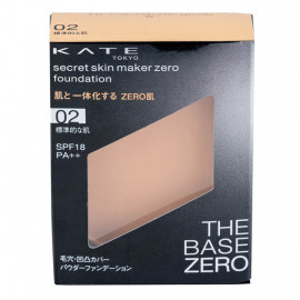 image of 【KATE凱婷】零瑕肌蜜粉餅-02自然色 9.5g Secret skin maker zero foundation 1PCS