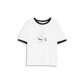 image of 查理.布朗字母印花短袖棉T 兩色售 Charlie. Brown Letter Printed Short-Sleeved Cotton T Two-Color