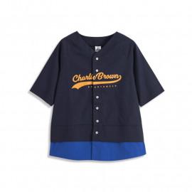 image of 查理‧布朗棒球撞色襯衫 Charlie Brown Baseball Color Shirt
