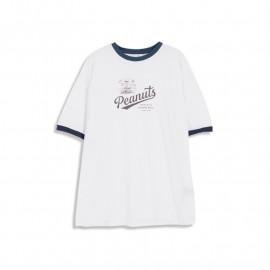 image of 查理‧布朗撞色滾邊T恤 兩色售 Charlie Brown Contrast T-Shirt Two-Color