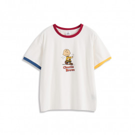 image of 查理‧布朗親子系列撞色邊印圖T恤 Charlie Brown Family Series Contrast Printed T-Shirt
