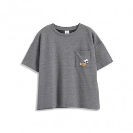 image of 查理.布朗正在電話暢聊中短袖T恤 Charlie. Brown Talking On The Phone Short Sleeve T-Shirt