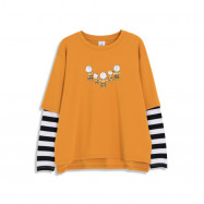 image of 查理‧布朗親子系列棒球比賽T恤 兩色售 Charlie Brown Family Series Baseball Game T-Shirt Two-Color