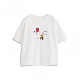 image of 查理.布朗放風箏印圖T恤 Charlie Brown Playing Kite Print T-Shirt