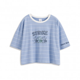 image of 查理‧布朗配色條紋人物短袖T恤 Charlie Brown Color Stripe Character Short Sleeve T-Shirt