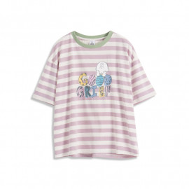 image of 查理‧布朗親子系列配色條紋印花T恤 Charlie Brown Family Collection Color Stripe Print T-Shirt