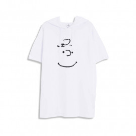 image of 查理‧布朗親子系列笑臉連帽T恤 兩色售 Charlie Brown Family Series Smiley Hooded T-Shirt Two-Color