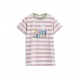 image of 查理‧布朗童裝親子系列配色條紋印花T恤 Charlie Brown Kids Kids Collection Color Stripe Print T-Shirt