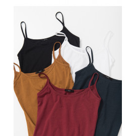 image of 素面純色細肩背心 五色售 Plain Solid Color Shoulder Vest Five Colors