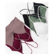image of V領蕾絲後交叉背心 五色售 V-Neck Lace Back Cross Vest Five Colors
