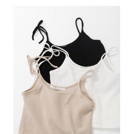 image of 單綁帶針織背心 三色售 Single Strap Knit Vest Three-Colors