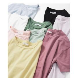 image of 基本素面多色圓領棉T 九色售 Basic Plain Multi-Color Round Neck Cotton T Nine Colors