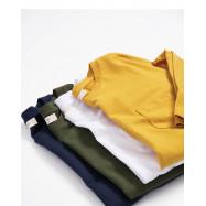 image of 單口袋素面多色圓領棉T 三色售 Single Pocket Plain Multi-Color Round Neck Cotton T Three Colors