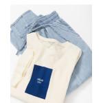 配色方塊絨面質感貼布短袖棉T Color Matching Box Suede Texture Patch Short-Sleeved Cotton T