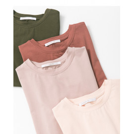 image of 基本百搭素面短T 四色售 Basic Wild Plain Short T Four Colors