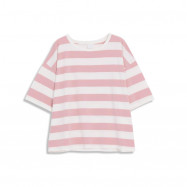 image of 寬條配色條紋短袖棉T 二色售 Wide Strip Color Matching Striped Short Sleeve Cotton T Two Colors