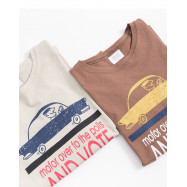 image of AND VOTE 跑車印花棉T 兩色售 AND VOTE Sports Car Printing Cotton T Two-Colors