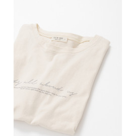 image of 簡約草寫字母棉T Simple Cursive Letter Cotton T