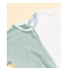 image of MIT撞色滾邊圓領T 兩色售 MIT Contrast Color Round Neck T Two-Colors