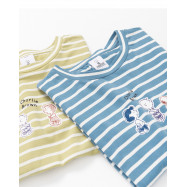 image of 查理.布朗走路條紋T恤 兩色售 Charlie Brown Walking Striped T-Shirt Two-Color