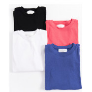 image of 純色圓領彈性短袖T 四色售 Solid Color Round Neck Elastic Short Sleeve T Four Colors