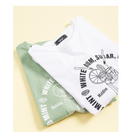 image of 果汁字母印花短T 兩色售 Juice Letter Printing Short T Two Colors
