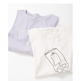 image of 趣味洋芋片圖案棉T 兩色售 Fun Acacia Pattern Cotton T Two-Colors