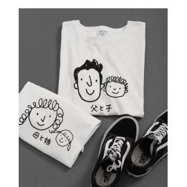 image of 女裝 親子系列趣味頭像圖棉T Women's Parent-Child Series Avatar Picture Cotton T